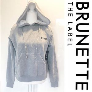 NWT Brunette The Label Grey Hoodie